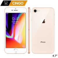 Original Apple iPhone 8 2GB RAM 64 GB/256 GB hexa-core IOS 3D Touch ID LTE 12.0MP caméra 4.7 pouces empreinte digitale Apple 1821mAh