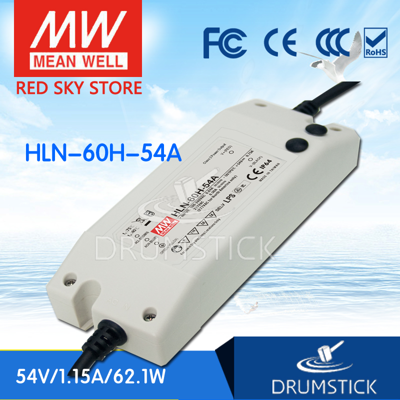 цена на MEAN WELL HLN-60H-54A 54V 1.15A meanwell HLN-60H 54V 62.1W Single Output LED Driver Power Supply A type