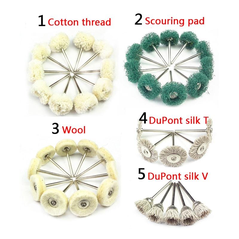 10pcs chiffon tampon de roue de polissage en coton pour accessoire - Outils abrasifs - Photo 2