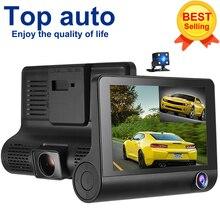 """KKMOON 4 """"1080 P Üç Lens Araba DVR Dash Kamera Kamera Kaydedici Gece Görüş/G-sensör/Hareket Algılama/döngü Kayıt"""