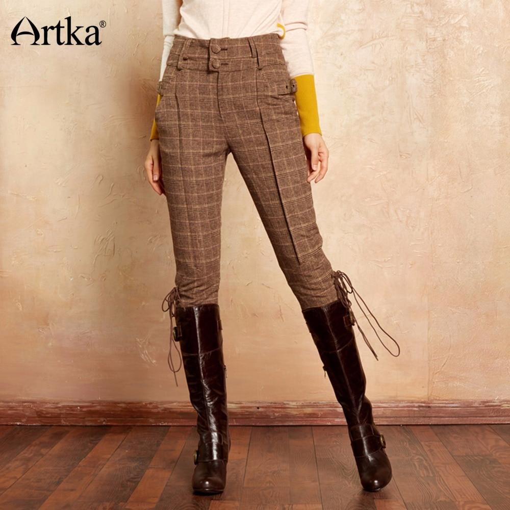 Artka Women's Classic Trousers 2017 Autumn & Winter Calf ...
