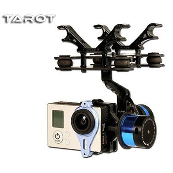Tarot T-2D Brushless Gimbal Camera PTZ Mount FPV Rack TL68A08 for GoPro Hero 3 RC Multicopter Drone Aerial Photog f11650 sj2d 2 axle camera brushless gimbal mount for sj4000 sj5000 gopro hero 3 4 diy fpv drone s550 tarot 650 phantom