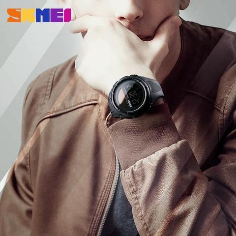 SKMEI Solar Power Men Sports Watches Waterproof LED Digital Watch Men Luxury Brand Electronic Mens Wrist Watch Relogio Masculino Karachi