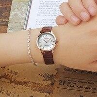 SANDA Fashion Couple Watches Women Quartz Wristwatch For Men Top Brand Luxury Leather 7mm Super Slim