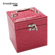 ФОТО casegrace exquisite gift for girl friend jewelry box makeup organizer maquillage earring necklace jewelry box storage bin 01102