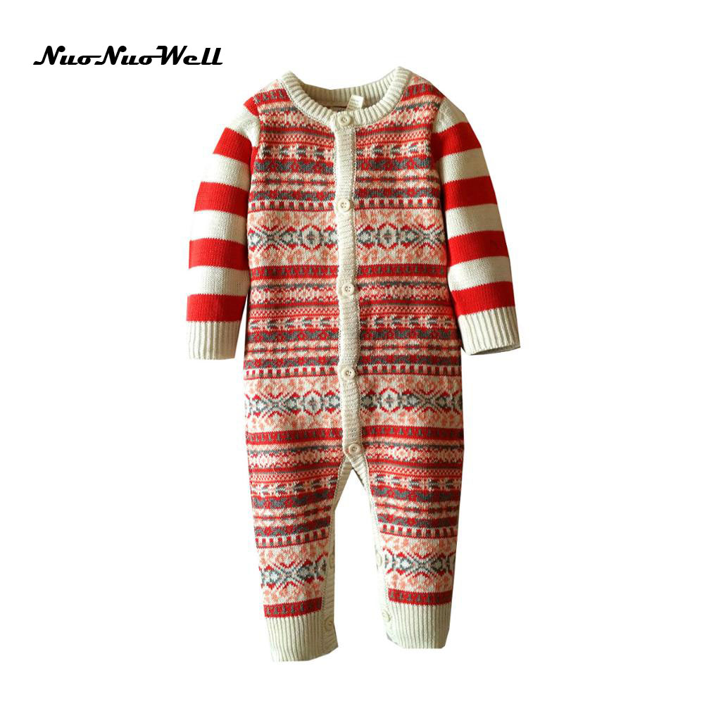 2017 autumn and winter baby rompers Jumpsuit little bebe sweater clothes Long sleeved warm boys and girls crawling clothes warm thicken baby rompers long sleeve organic cotton autumn