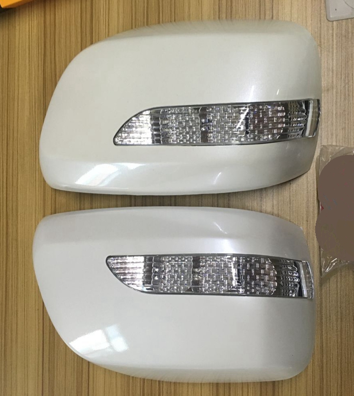 2PCS Car Review Mirror Cover With Light Lamp For Toyota Land Cruiser LC200 FJ200 2008-2011 Auto Exterior Parts Car Styling