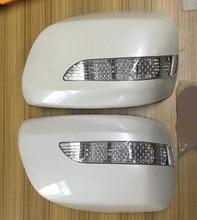 2 шт. автомобильный обзор зеркала с подсветкой для Toyota Land Cruiser LC200 FJ200 2008-2011 Авто снаружи запчасти стайлинга автомобилей