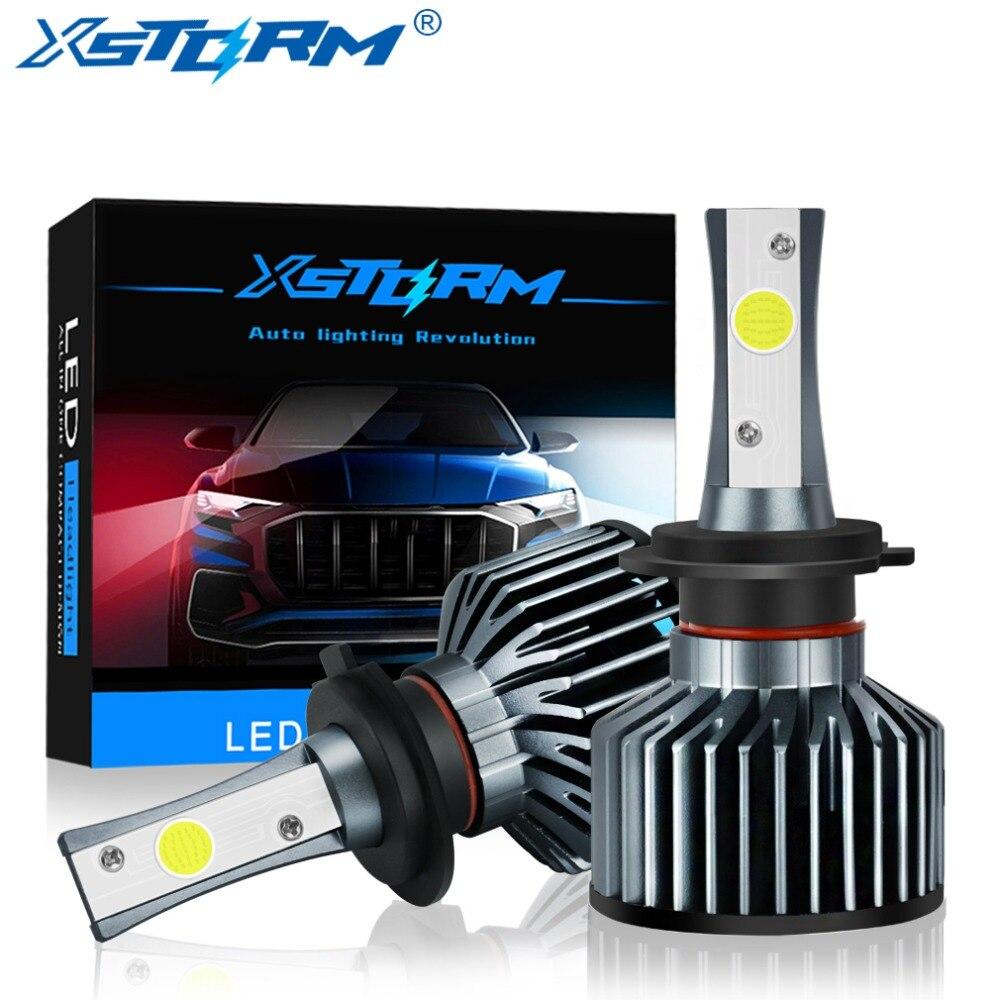 2 stks Auto Koplamp H7 LED H4 LED Lamp H1 H3 H8 H11 HB4 9006 HB3 9005 H27 72 w 8000LM 6000 k 12 v 24 v Auto Lights Koplamp Lamp
