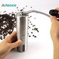 Novo Aço Inoxidável Conveniente Destacável fácil de Montar Portátil Máquina de Café Moedor de Café Manual de Café Moinho