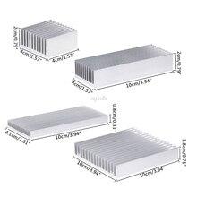 Экструдированный алюминиевый радиатор для высокой мощности Светодиодный IC чип кулер радиатор теплоотвод Прямая поставка