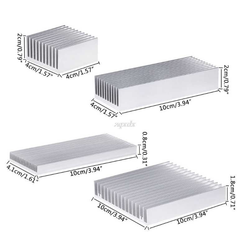 Extruded Aluminum Heatsink For High Power LED IC Chip Cooler Radiator Heat Sink