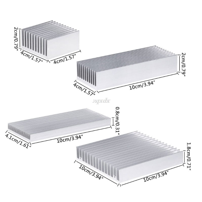 Extruded Aluminum Heatsink For High Power LED IC Chip Cooler Radiator Heat Sink Drop Ship
