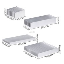 Extruded Aluminum Heatsink For High Power LED IC Chip Cooler Radiator Heat Sink Drop Ship(China)
