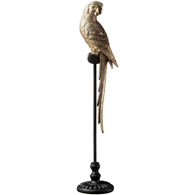 Golden Parrot Figurine