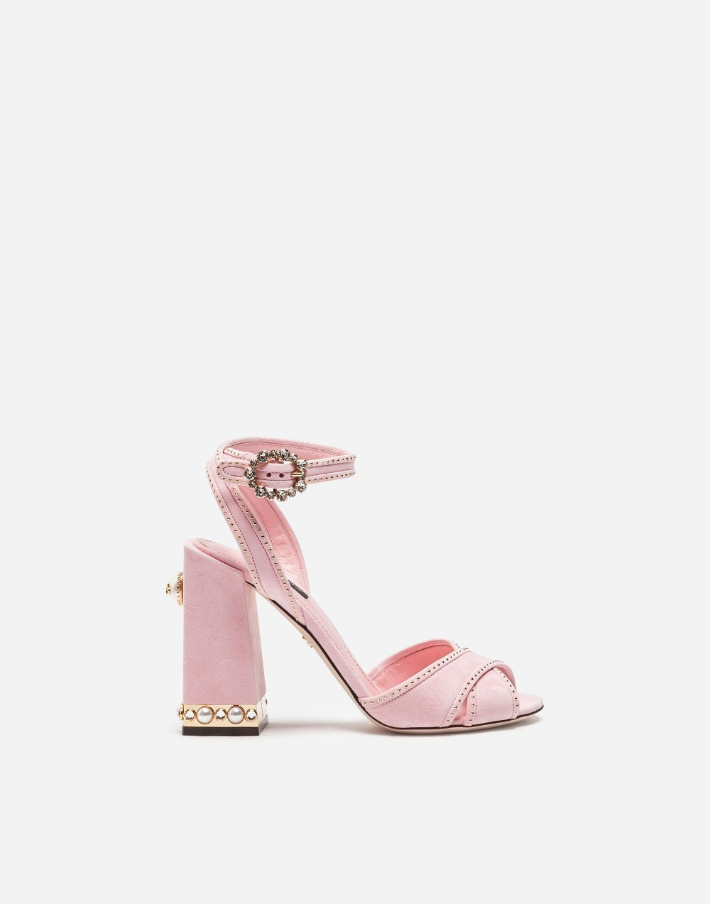 d9d96f5d25103 heel sandal buckle diamonds suede chunky strap pink high summer sandal pink  lady chunky cross leather ...