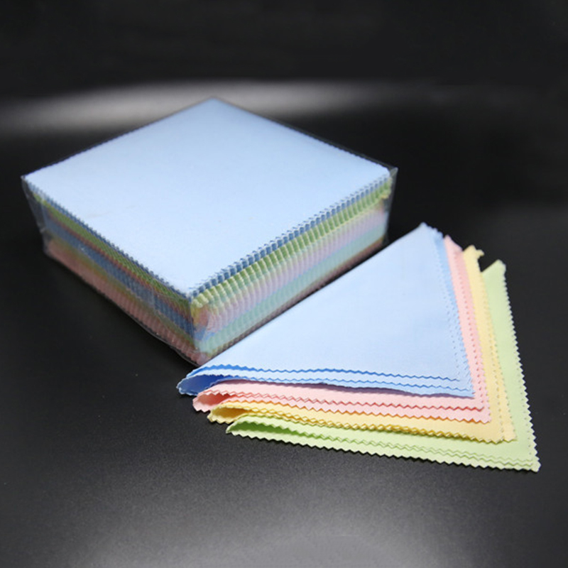 10PCS/LOT Micro Fiber Glasses Eyeglass Cleaning Cloth 13*13cm Glasses Cloth for Camera Phone Computer Screen Cleaning Wipes