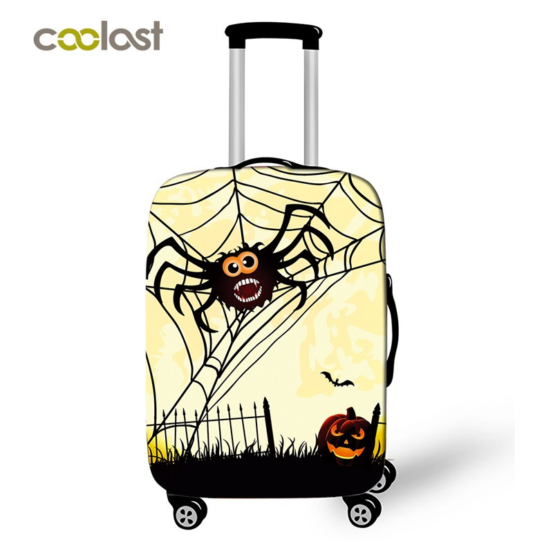 Spider Trolley Luggage Cover Cartoon Girls Suitcase Protective Cover Elastic Valise 50cm Bag Cover Geometric Travel Accessories