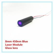 Lentille en verre de 8mm 450nm 1 mw 5 mw 10 mW 50 mw 80 mw Module Laser bleu TYLASERS de qualité industrielle