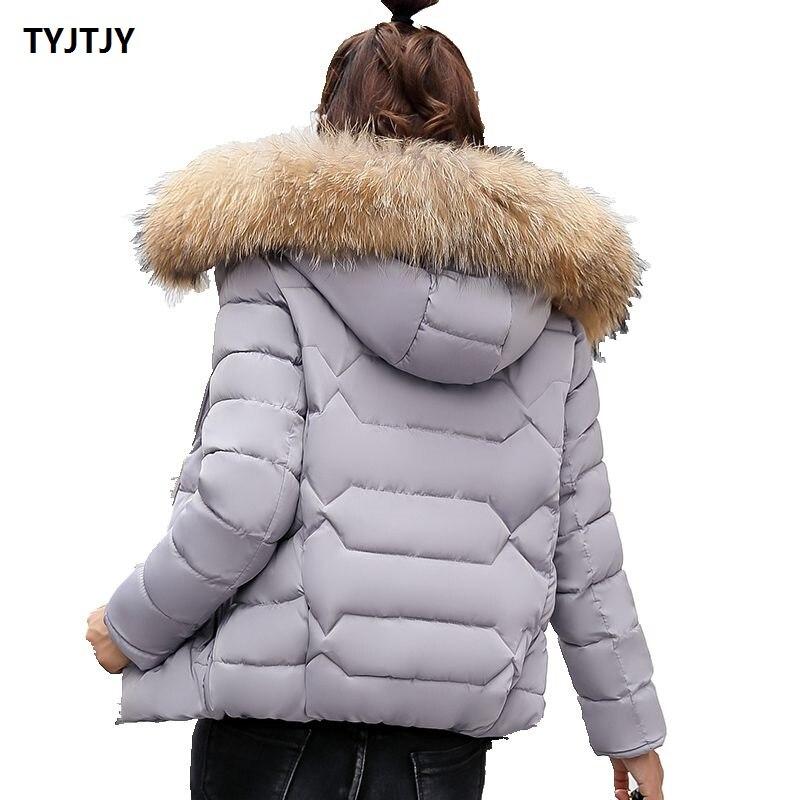 Fashion Jacket woman winter 2018 jackets womens new long fur collar short section women coat parkas mujer