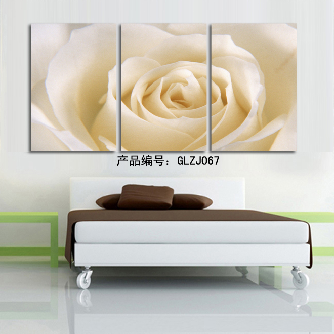 3 Piece Romantic Canvas Painting rose flower Oil Painting Large Wall Art Pictures For Living Room Print On Canvas GLZJ067 in Painting Calligraphy from Home Garden
