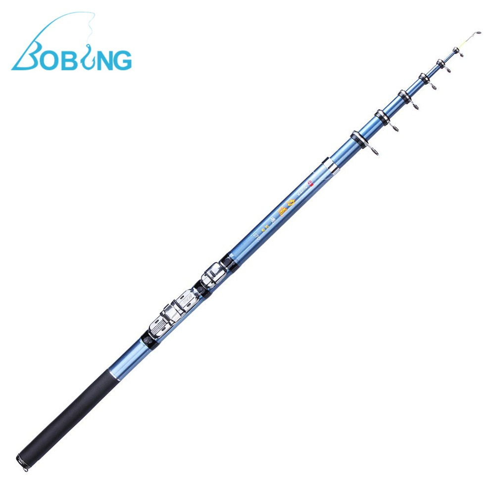 Bobing 1 8 2 1 2 4 2 7m fiberglass portable telescopic for Best fishing pole for beginners