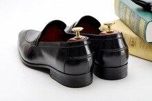 High Quality Luxury Italian Brand Dress Shoes Men Slip On Office