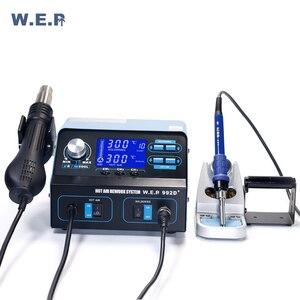 Image 3 - Wep 992d + ferro de solda ar quente estação de solda telefone ic pcb reparação desoldering estação bga retrabalho ferramenta de solda