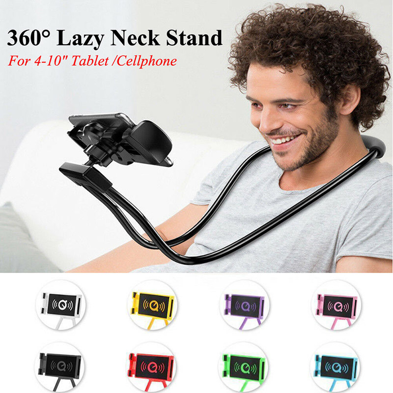 Newly 1pc Flexible Phone Stand Lazy Neck Hanging Bendable Holder Support For Mobile Phone DC128