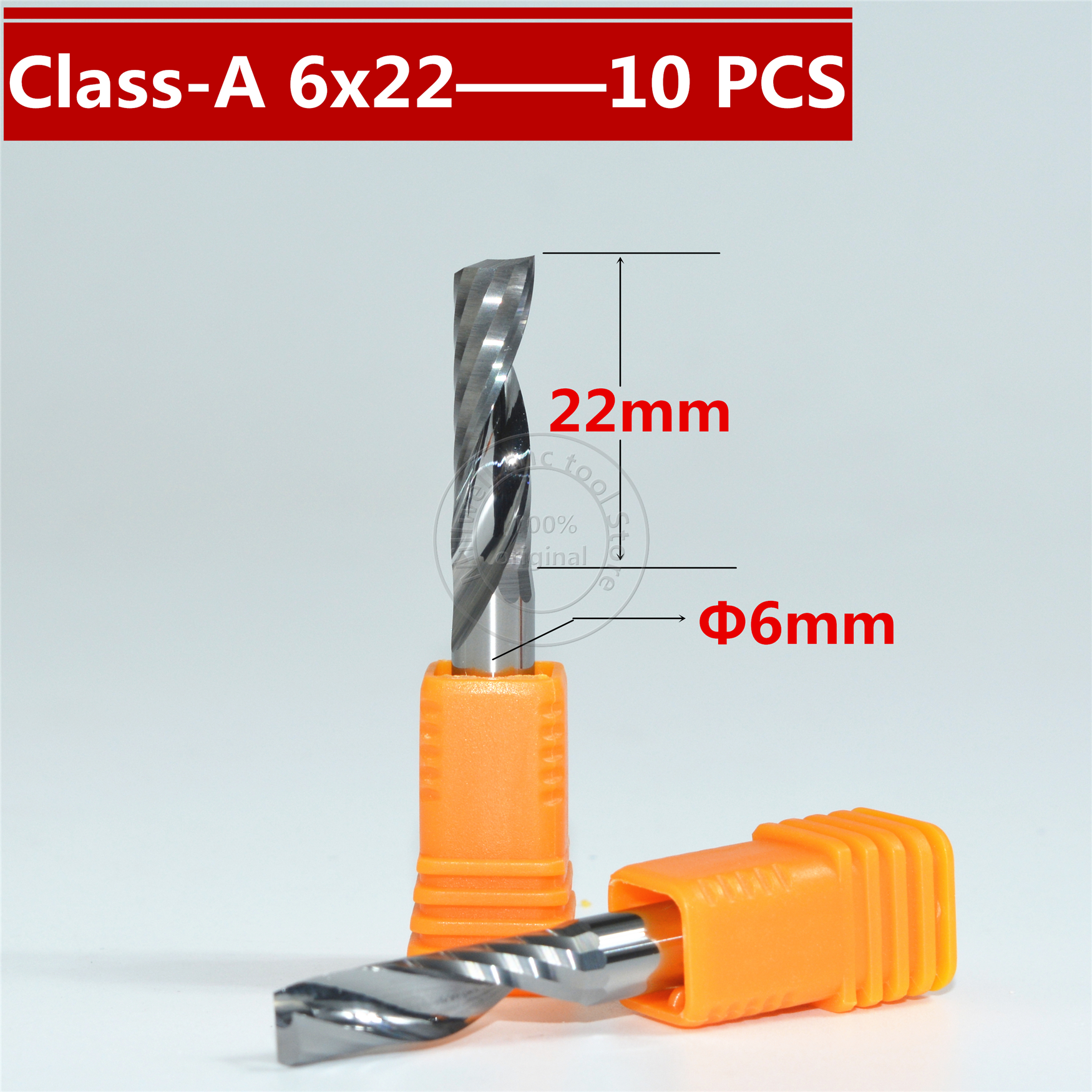 Class A 10PCS 6mm 22mm Freeshipping CNC wood tool carbide End Mill woodworking insert router bit