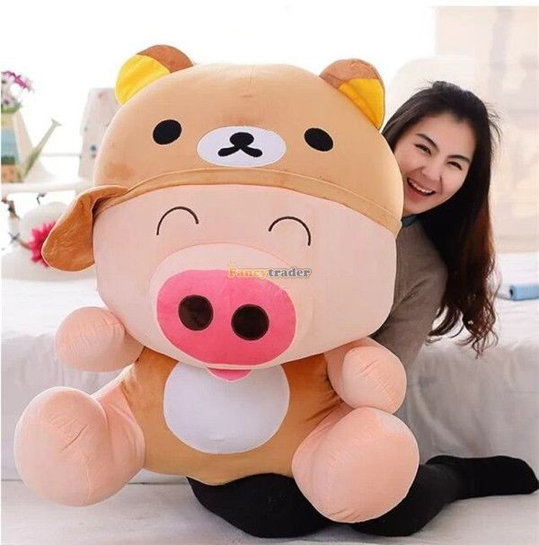 Fancytrader 37\'\' 95cm Super Lovely Soft PlusH Stuffed Giant McDull Pig, 3 Cartoon Models, Free Shipping FT50732 (11)