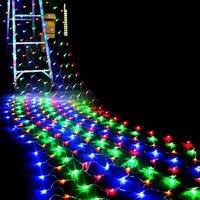 204 LEDS Net Christmas Lights 4 Colours To Choose Outdoor 110V 220V US EU Plug Waterproof