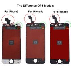 Заводская распродажа ЖК-дисплей для iphone 5 iphone 5c iphone 5s экран дисплей часть стекло Сенсорная панель дигитайзер сборка полный инструменты экра...