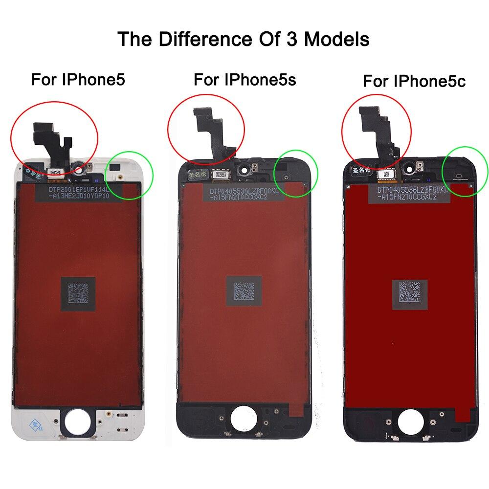 Venda da fábrica de lcd para iphone 5 iphone 5c iphone 5s Parte de Exibição Da tela de Toque de Vidro Painel de Digitador Assembléia Ferramentas Completas tela