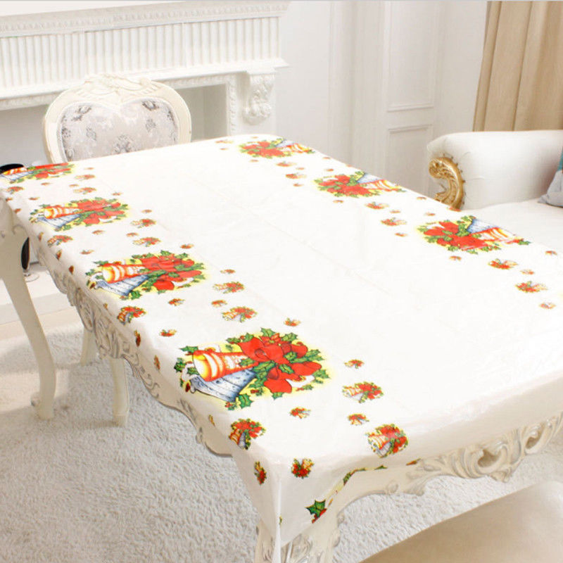 Christmas Disposable Tablecloth Festive Rectangle Oblong Table Cloth Xmas Tableware Dining Kitchen Table Cover 110cm By 180cm-in Tablecloths from Home ... & Christmas Disposable Tablecloth Festive Rectangle Oblong Table Cloth ...