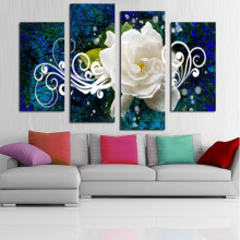 Frame 4 panel Bright-Colored Flower Large HD Picture Modern Home Wall Decor Canvas Print Painting For House Decorate