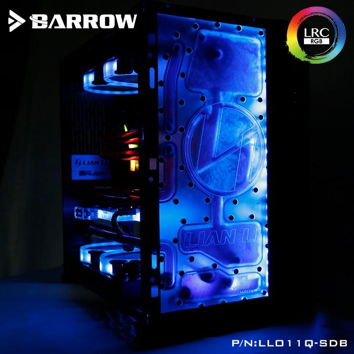Barrow LLO11Q-SDBV1, Frente Placas de Via Navegável Para Lian Li PC-O11 Caso Dinâmico, para Intel CPU GPU Bloco De Água & Single Edifício