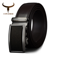 COWATHER 2017 Genuine Leather Belts For Men Automatic Ratchet Buckle Fashion Formal Leather Belts Big Size
