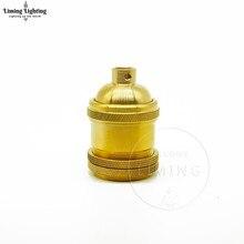 Free shipping Keyless Brass Lamp Socket E26/E27 Antique Copper Lampholder Vintage Bulb Holder DIY Pendant Lights