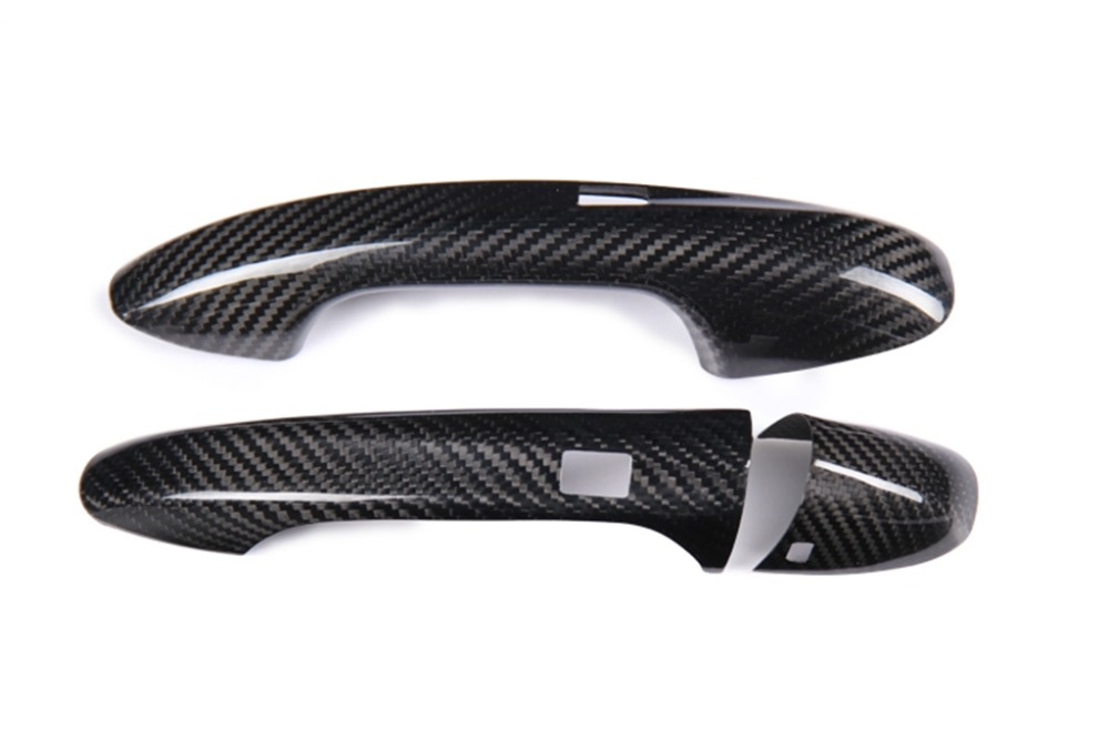 New Carbon Fiber Handle Covers Compatible With <font><b>MERCEDES</b></font> BENZ C-Class C205 A205 <font><b>Coupe</b></font> 2016-2019 C180 C200 C250 <font><b>C300</b></font> C350 C400 image