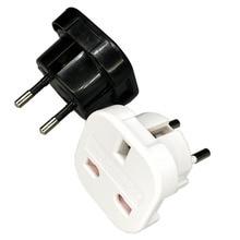 цена на Universal Travel UK to EU Euro Plug AC Power Charger Adapter Converter Socket  Power Plug Adaptor Connector for phone and pad