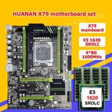 HUANAN V2.49 X79 motherboard CPU RAM combos Xeon E5 1620 SROLC CPU (4*8G)32G DDR3 RECC memorry all good tested 2 years warranty