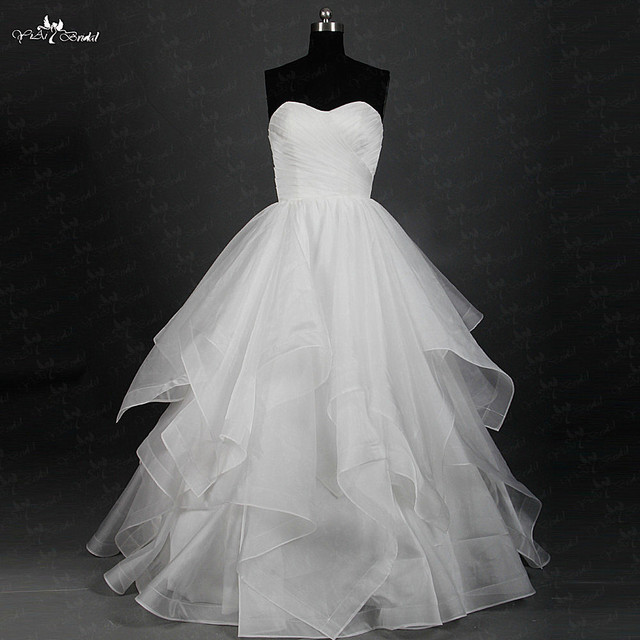 Rsw852 Yiaibridal Real Job Photos Cascading Layers Skirt With