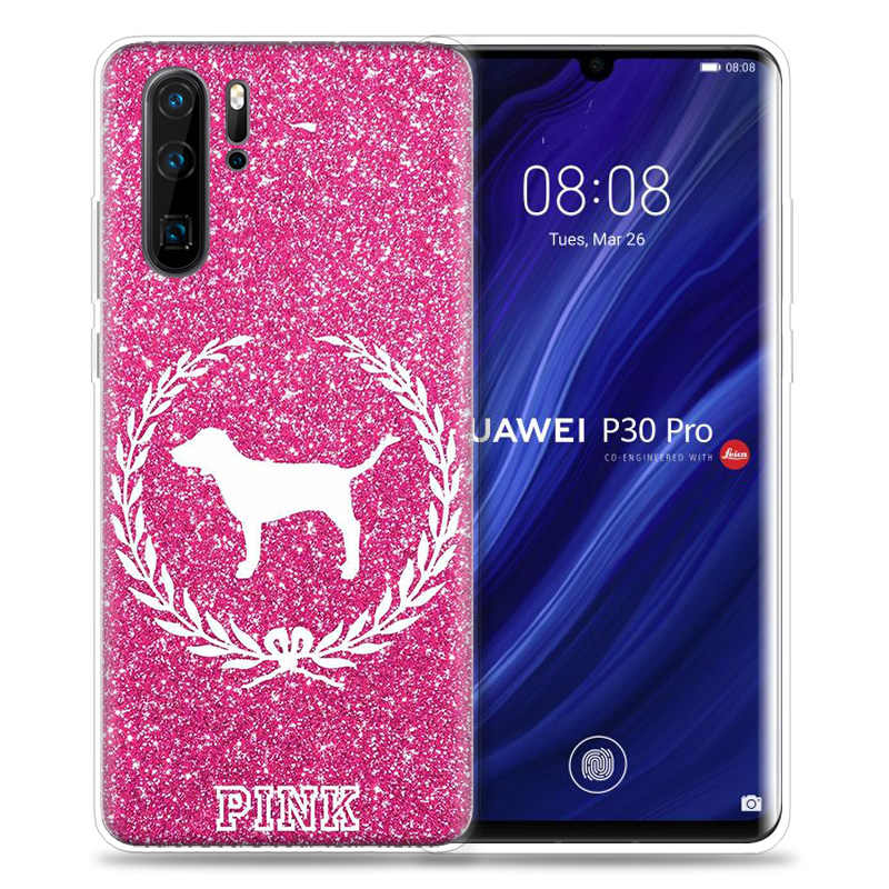 Mi Rosa brillo para el caso de Huawei P20 P30 P Smart Z Plus 2019 Nova 5 5i P10 P9 amigo bolsas de teléfono de silicona 10 20 lite Pro Capa