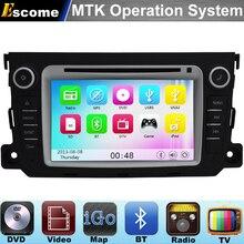 Mtk3360 dvd-плеер автомобиля для Mercedes Benz Smart Fortwo 2012 2013 2014 с 800 мГц Процессор Dual Core Bluetooth Радио GPS навигации