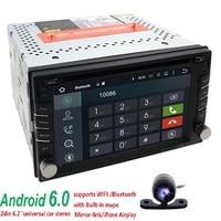 1G + 16G Android 6.0 car dvd player gps di navigazione gps per auto universale radio video CD DVD 2 din per nissan xtrail Qashqai juke