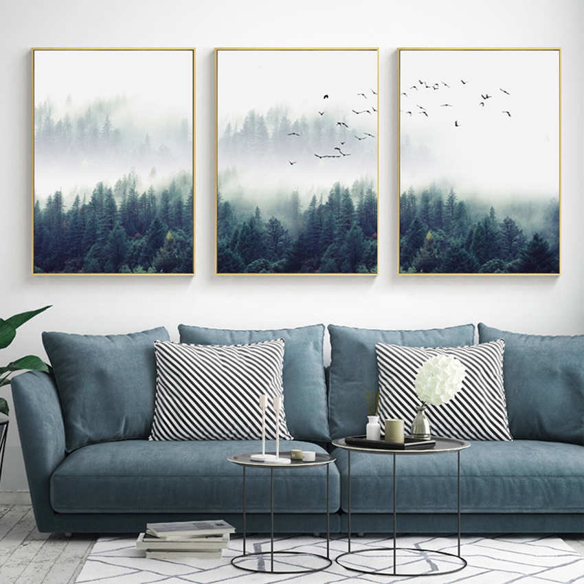 wall art decor for living room.htm modular hd print wall art forest landscape 3 poster pieces home  wall art forest landscape 3 poster