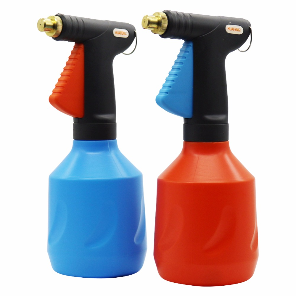1 pc 680 ml plástico gatilho pulverizador ajustável bocal de cobre manual spray garrafa mão pressão ar compressão casa jardim pulverizador