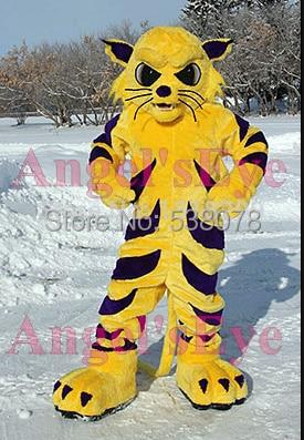9b900a018 professional custom big yellow wildcat mascot tiger bobcat costume adult  cartoon character anime cosplay costumes fursuit