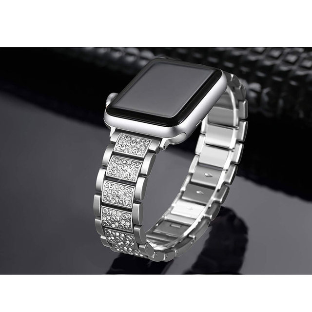 ASHEI Stainless Steel Band For Apple Watch 4 Bands 40mm 44mm Rhinestone Bling Bracelet For Apple Watch Strap 38mm 42mm Series 3 4